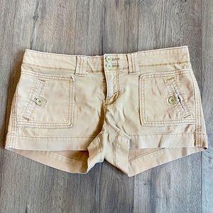 American eagle women's short khaki cargo shorts